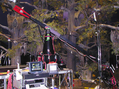 Kuper and General Lift motion controledl camera system at the Elven city of Lothlorien